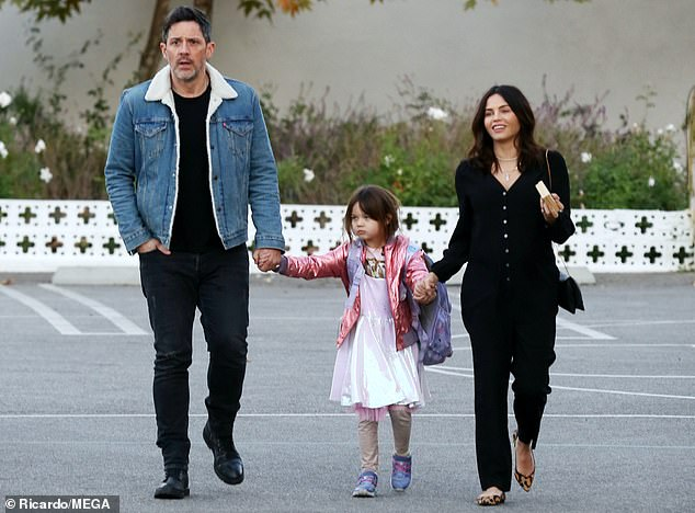 Family outing: Jenna Dewan stepped out Tuesday to enjoy a family outing with partner Steve Kazee and daughter Everly in Los Angeles