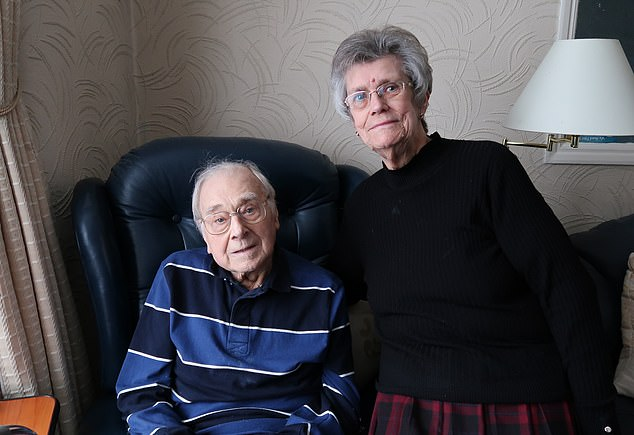 Charles Rumley, a 90-year-old man with dementia from East Ham, London, was one of those attended to when his catheter became blocked. His wife, Valerie, said the service meant 'an awful lot' to them, considering a trip to hospital would have been unsettling