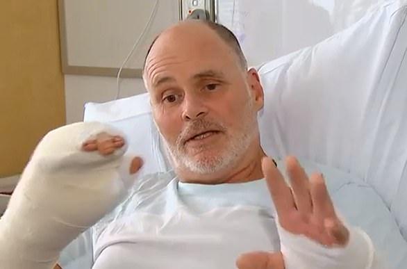 Craig Dickmann, was mauled by a nine foot (2.8m) crocodile