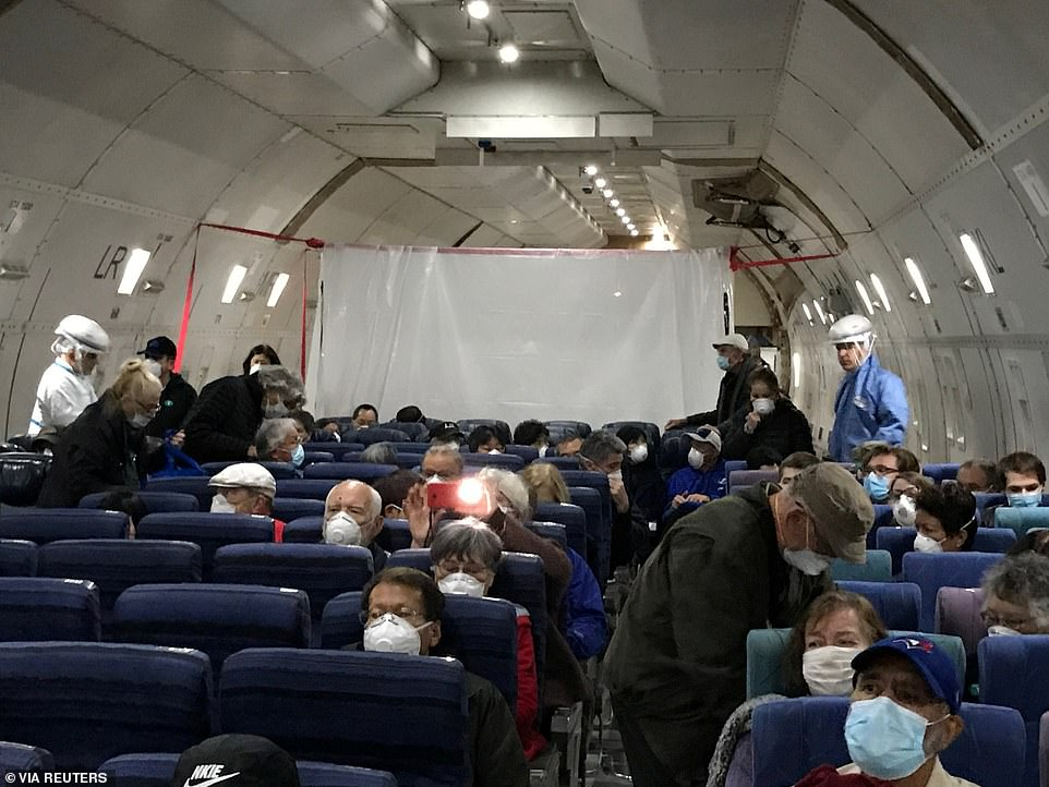 340 Americans decided to abandon ship and take the government charter flights back to the US, where they will be under additional quarantine on two military bases for another 14 days