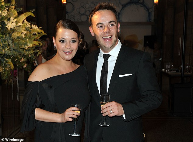 In a better place:Ant McPartlin and his ex-wife Lisa Armstrong are said to be on civil terms, after finalising their divorce settlement (pictured in June 2010)