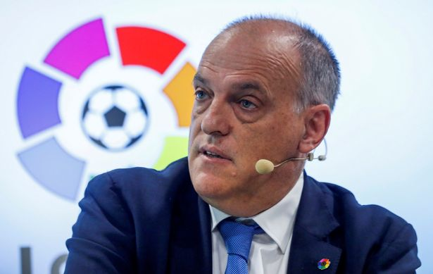 La Liga chief Javier Tebas is engaged in a public dispute with Man City boss Pep Guardiola