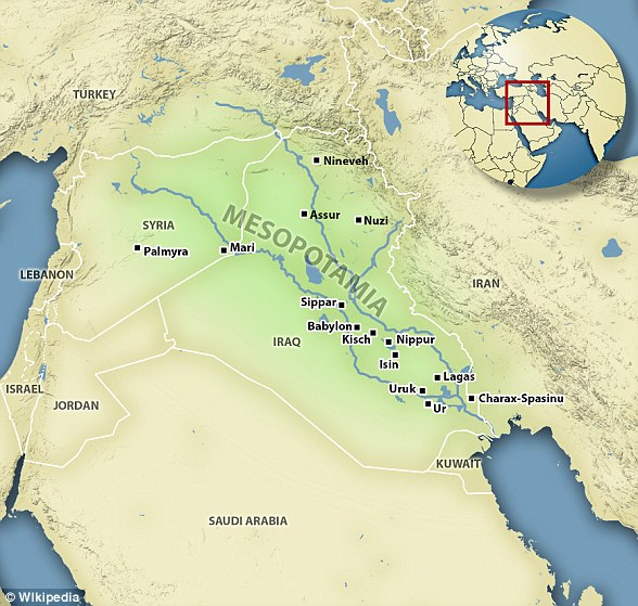 Mesopotamia is an ancient region of the Middle-East that is most of modern-day Iraq and parts of other countries. They invented cities, the wheel and farming and gave women almost equal rights