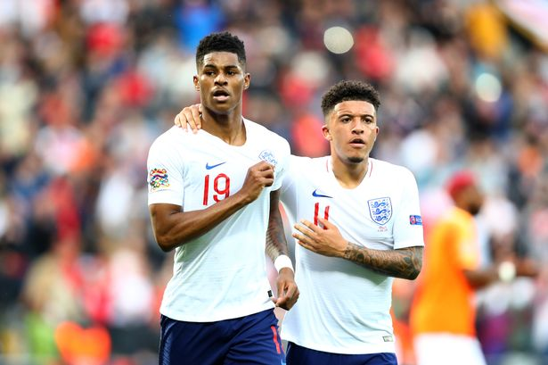 Sancho is close friends with Manchester United's Marcus Rashford