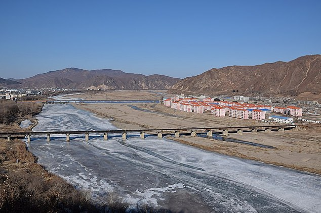 The man was taken to hospital after being shot by a Chinese border guard while attempting to cross the Tumen River (file image), which separates the two countries