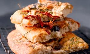 Focaccia - take a good basic recipe, then have fun decorating the bread.