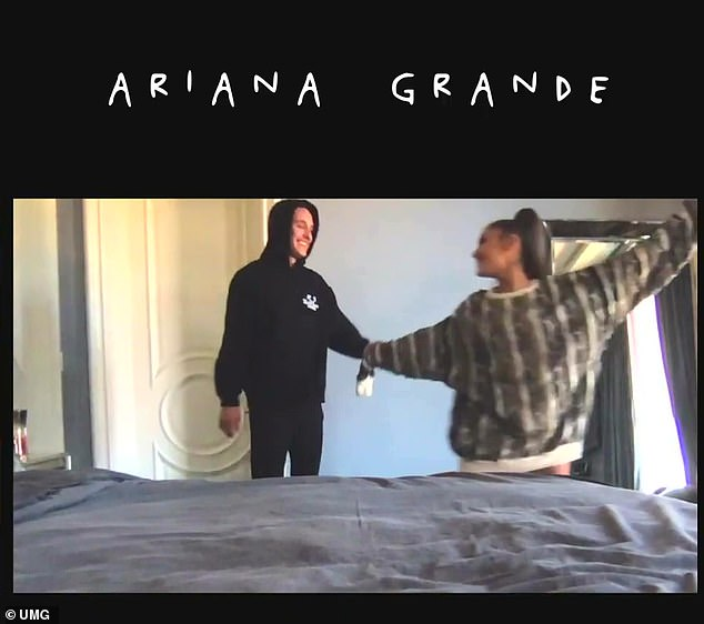 Music video official: Ariana used the star-studded video to confirm her budding relationship with Los Angeles realtor Dalton Gomez