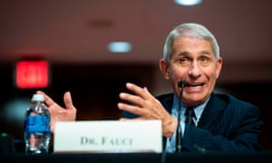 Anthony Fauci has said the US is 'going in the wrong direction' on Covid-19 infections.