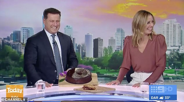 Marathon, not a sprint: Despite slipping into third place, Today has had some successlately as all breakfast shows gain viewers during the coronavirus pandemic. Pictured: Today co-hosts Karl Stefanovic and Allison Langdon