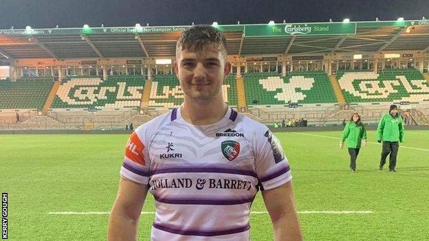 Taylor Gough made his first appearance for Leicester Tigers in the Premiership Cup in 2019