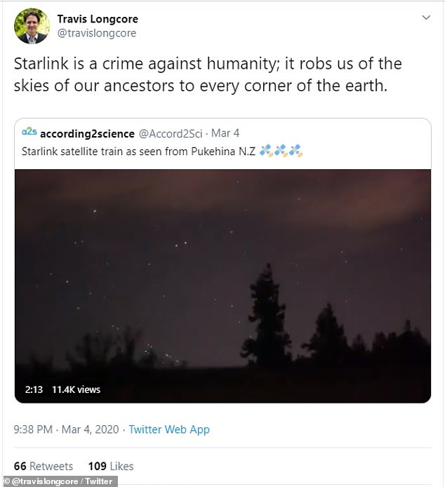 However, Starlink has already received widespread criticism from astronomers and space enthusiasts, as the devices are tainting the natural vie of the night sky. And with a second constellation hanging above, the view from down below could be even more obstructed