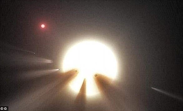 The star, otherwise known as KIC 8462852, is located 1,400 light years away and has baffled astonomers since being discovered in 2015 (artist's impression)