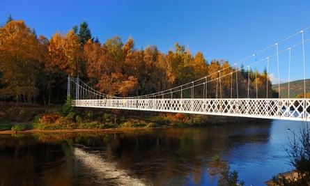 Cambus O'May Suspension Bridge near Ballater