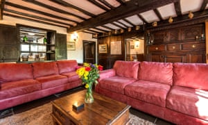 Living room at one of the Bridge End Farm cottages in the Lake District, UK