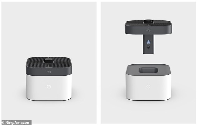 The Mailbox Sensor was quietly revealed along with the tech giant's Ring Product Announcement Thursday, which included a home surveillance drone (pictured)