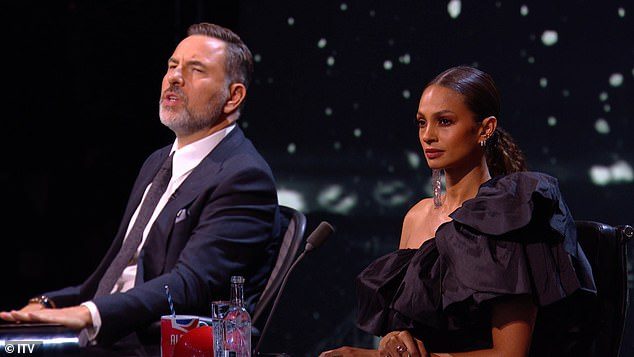 Wowed:Britain's Got Talent judges Alesha Dixon and David Walliams are left awestruck as contestant Belinda Davids blows them away with a stunning rendition of Whitney Houston's track I Have Nothing