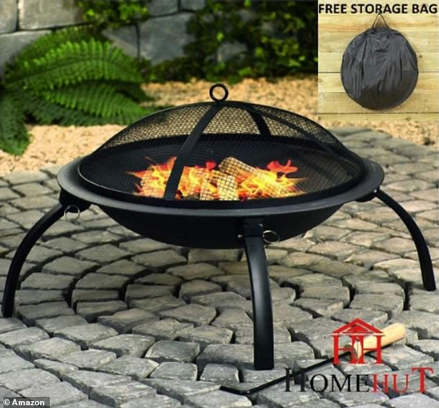 TheHH Home Hut Large Fire Pit is the number one bestseller in 'Outdoor Fire Pits' on Amazon