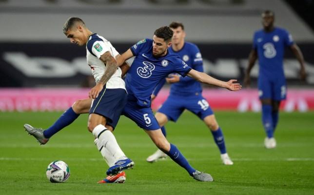 Jorginho started the Carabao Cup clash against Spurs