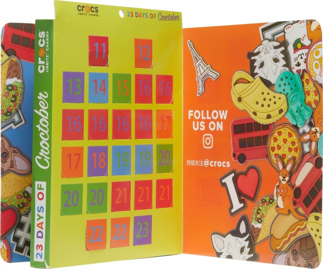 Crocs has released a Jibbitz Croctober advent calendar for fans of the controversial shoes