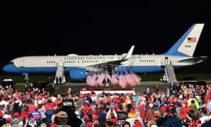 Donald Trump speaks in Newport News, Virginia.