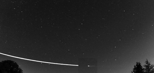 Astronomers spotted the bright cosmic object streaking across the night sky on September 22, as is dipped 56 miles in altitude - lower than any satellites orbiting Earth