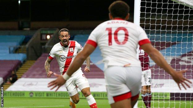 Danny Ings and Che Adams celebrate Southampton's goal