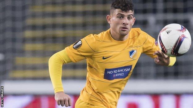 Nicholas Ioannou in action for APOEL