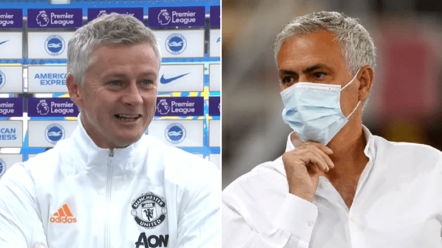 Ole Gunnar Solskjaer pokes fun at Jose Mourinho after Manchester United's comeback win over Brighton