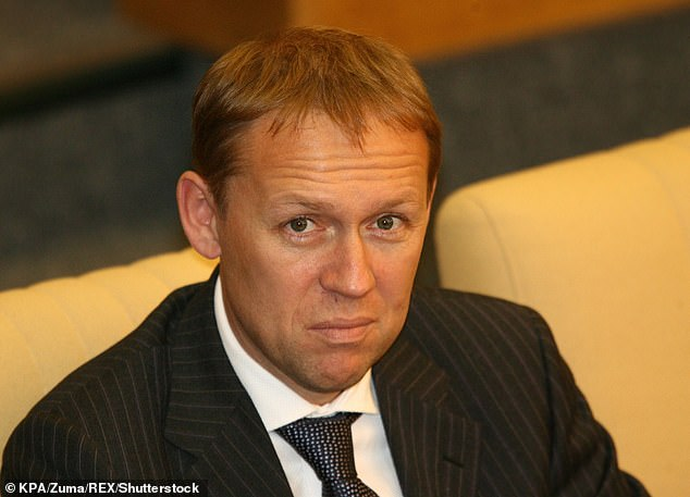 Andrei Lugovoy (pictured),who was accused of killing Alexander Litvinenko has been given a major role in the investigation into Alexei Navalny's poisoning