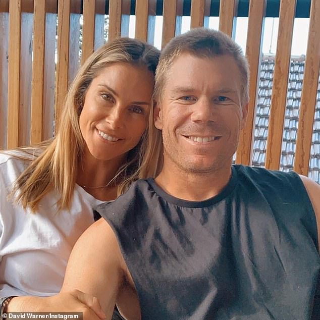 'It's not just daddy who is tough and strong': Candice Warner (left) revealed her husband David's (right) infamous ball-tampering scandal was the reason she signed up for SAS: Australia in a new trailer for the upcoming show