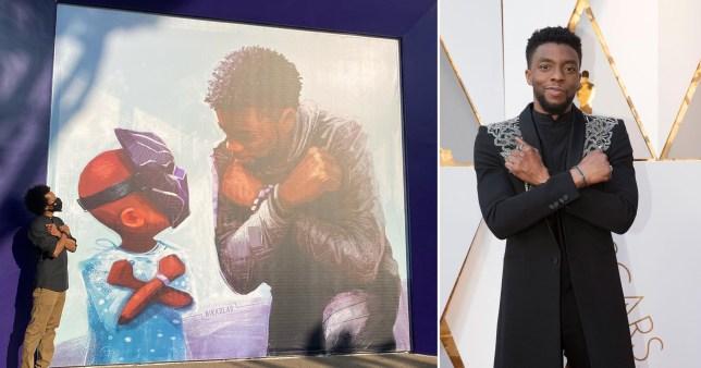 Chadwick Boseman Disney mural