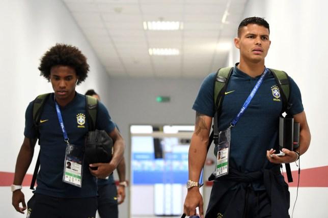 Silva was offered advice from fellow Brazilian Willian