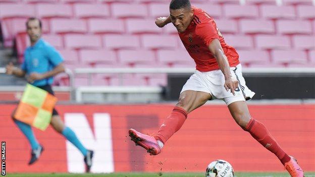 Benfica striker Carlos Vinicius