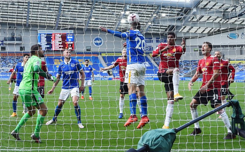 © Reuters. Premier League - Brighton & Hove Albion v Manchester United