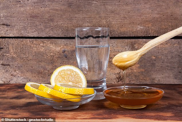 Mixing hot water with lemon juice and a little honey can help ease the symptoms of a dry cough