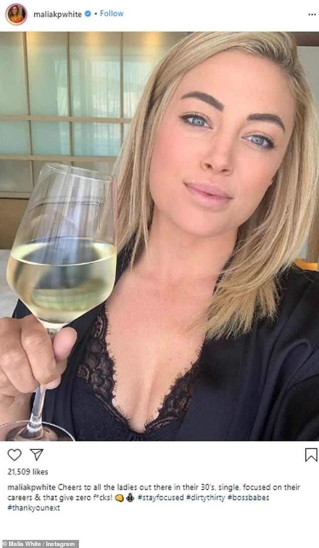 Cheers to that! White has confirmed she's now single after splitting fromTom Checketts