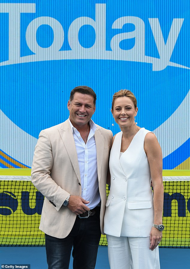Praise: Speaking to investors earlier this month, Channel Nine's CEO, Hugh Marks, commented on Today's progress over the past nine months: 'Karl and Ally are doing a good job there for us'