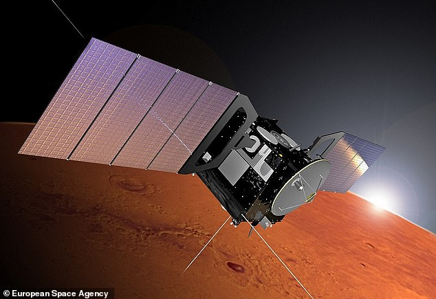 Scientists at the Italian National Institute for Astrophysics in Rome uncovered the subsurface lake using data from the European Space Agency's Mars Express probe (artist's impression)