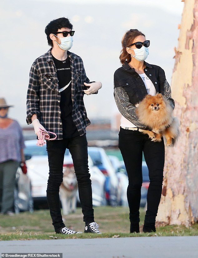 So much in common: A source recently told HollywoodLife that the age gap couple, who were first linked in April, 'actually have a lot in common'; the pair pictured in May