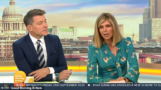 Strong: On Friday Kate offered viewers an update on her husband's condition, as she admitted it had been a 'tough' week for the family