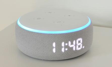 The Amazon Echo Dot with Clock.