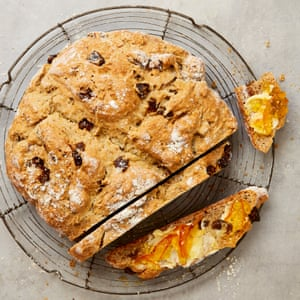 Yotam Ottolenghi's soda bread with figs, star anise and orange.