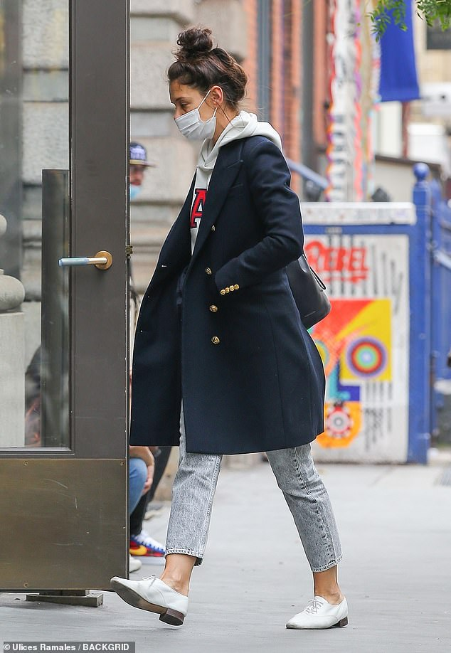 Doing well: Her outing comes after she is reportedly 'smitten' with her new 33-year-old beau, who she has been packing on the PDA with since they were first publicly spotted together earlier this month