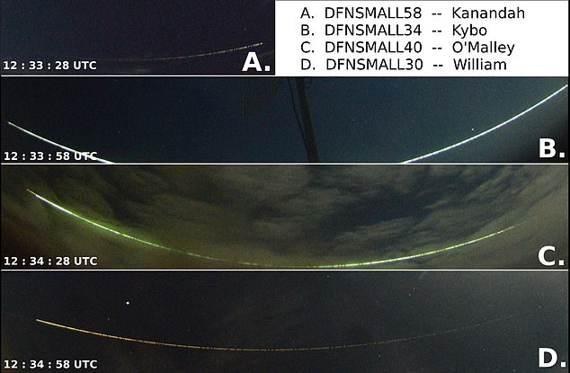 Earth grazing meteoroids occur sporadically – the last one to be captured was spotted over Australia in 2017 (pictured). This event lasted for one and a half minutes and the space rock soared through Earth's atmosphere at more than 35,000 mile per hour before returning to space