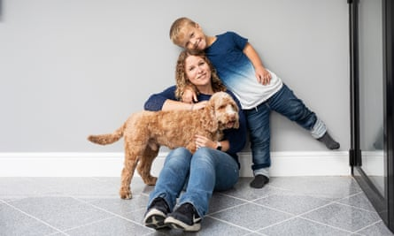 'The decision to take part in the trial was purely based on improving Samuel's quality of life.' Samuel with his mum, Kristina, and Hamish.