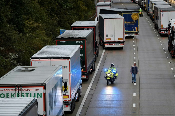 Michael Gove has warned of queues of up to 7,000 trucks in Kent when the UK leaves the EU customs union