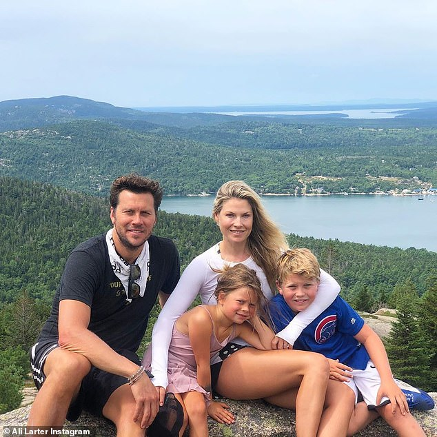 Fresh air: In late August, she shared snaps of herself and family hiking around Acadia National Park on Maine's Mount Desert Island