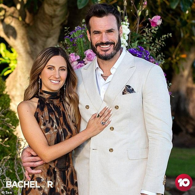 Happy couple: Two months on from the finale, Locky is still smitten with Irena Srbinovska. She has packed up her life in Melbourne to live with the adventurer in Perth
