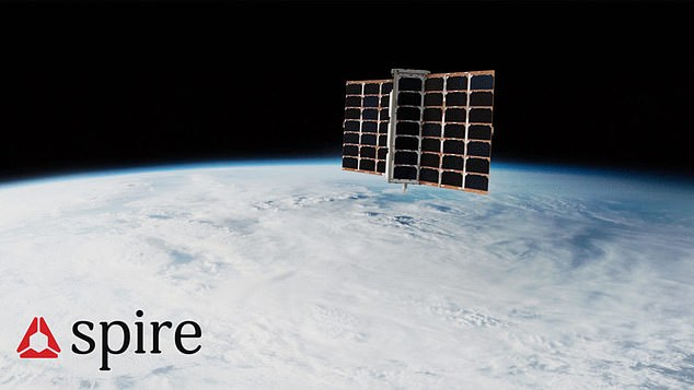 Artist's impression of the spacecraft, which will join a fleet of more than 100 objects in low Earth orbit that work together to track the whereabouts of ships and predict global ocean traffic