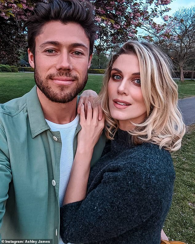 Guessing game:Ashley also revealed that she and her partner, Tom Andrews, have decided on their child's name, but have not announced it to the public yet